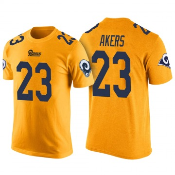 Men's Cam Akers Los Angeles Rams Yellow Color Rush Legend T-Shirt