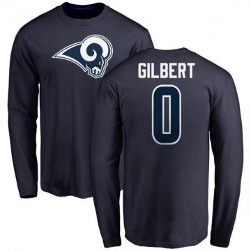 Men's James Gilbert Los Angeles Rams Name & Number Logo Long Sleeve T-Shirt - Navy