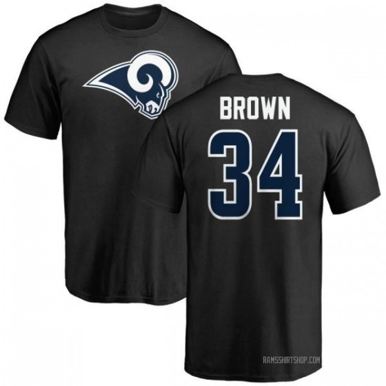 Men's Malcolm Brown Los Angeles Rams Name & Number Logo T-Shirt - Black