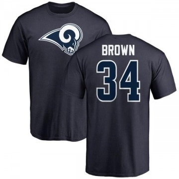 Men's Malcolm Brown Los Angeles Rams Name & Number Logo T-Shirt - Navy