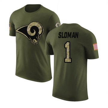 Youth Sam Sloman Los Angeles Rams Olive Salute to Service Legend T-Shirt